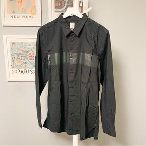 Gap Black Stripe Button-Down Shirt XL